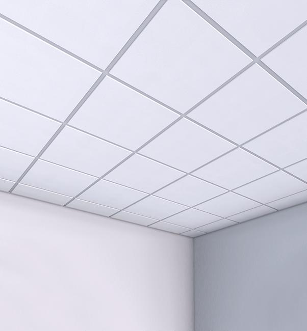 Подвесной потолок Армстронг в белом цвете