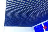 Современный натяжной потолок Грилято купить